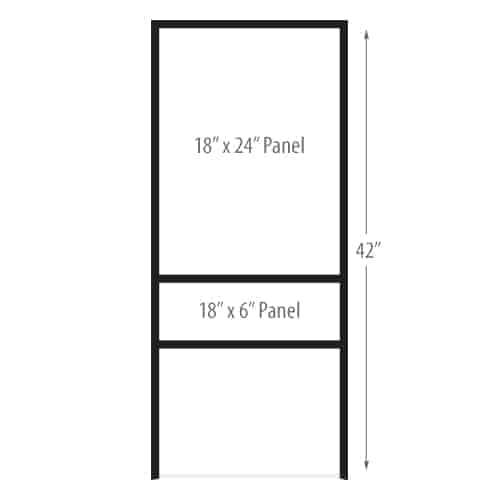 "H Frame Sign Holders - Vertical - 18"" x 24"""