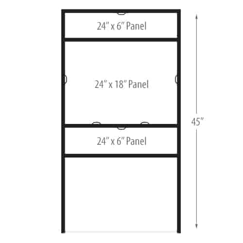 """H Frame Sign Holders - Slide In Double Rider - 24"""" x 18"""""""