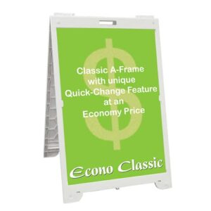 """Signicade® Econo Classic - 24"""" x 36"""", Double Sided, A-Frame Sidewalk Sign, """"Sandwich Board"""" - White"""