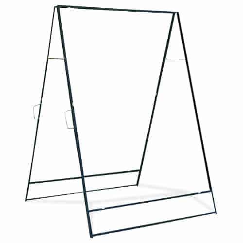 """Large Sidewalk Folding Frame - Iron Construction - 36"""" x 48"""""""