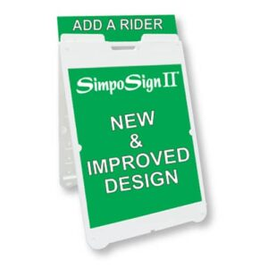 "Signicade® SimpoSign® II - 22"" x 28"", Double Sided, A-Frame Sidewalk Sign, ""Sandwich Board"""